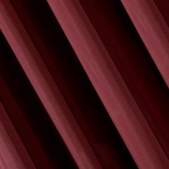 Bordowa gładka zasłona z matowej satyny 140x250 przelotki - 140x250