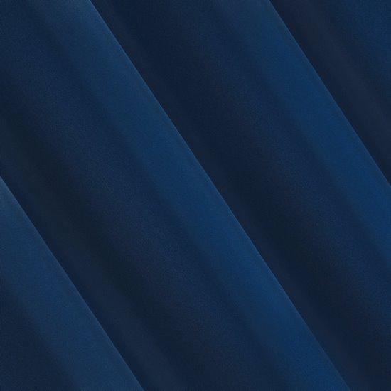 Niebieska gładka zasłona z matowej satyny 140x250 przelotki - 140x250
