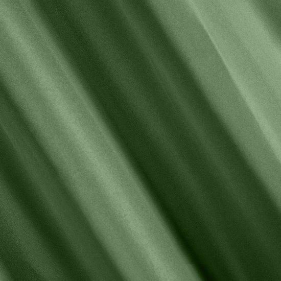 Ciemna zielona MATOWA ZASŁONA na przelotkach 140x250 cm - 140x250