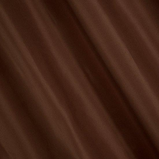 Kawowa gładka zasłona z matowej satyny 140x250 przelotki - 140x250