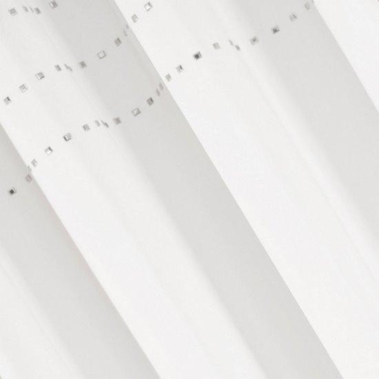 Zasłona kremowa z połyskującą aplikacją na przelotkach 140 x 250 cm  - 140x250 - kremowy