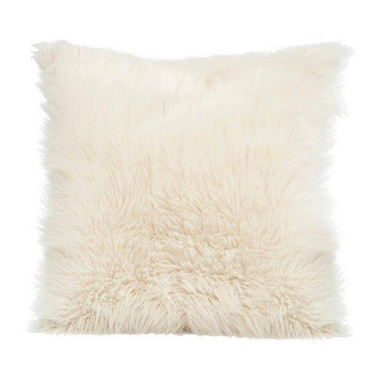 Poszewka na poduszkę miękkie futerko 45 x 45 cm kremowy  - 45x45 - kremowy