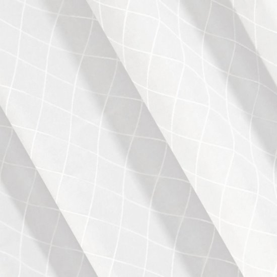 Biała zasłona z żakardu w geometryczny wzór 135x250 cm przelotki - 140 X 250 cm