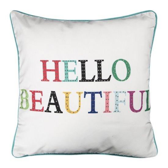 Poszewka dekoracyjna na poduszkę  45 x 45 Kolor Biały - 45x45 - biały, fioletowy, żółty