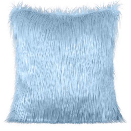 Poszewka na poduszkę futerko jasno niebieska 55 x 55 cm - 55x55