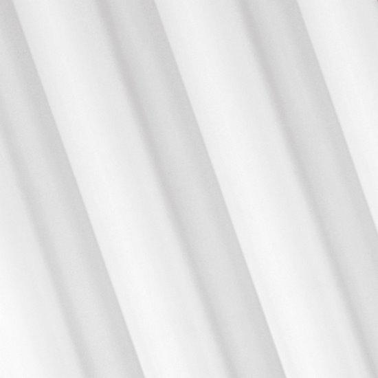 Zasłona gotowa biała 140x250 przelotki - 140 X 250 cm - biały