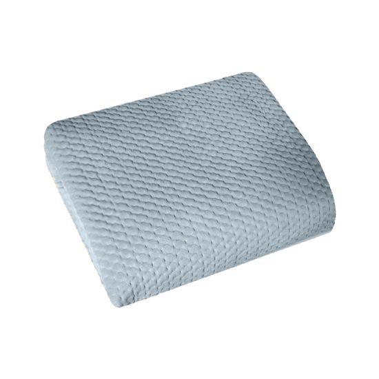 Narzuta na łóżko welwetowa pikowana hotpress 200x220 cm stalowa - 200 X 220 cm - stalowy