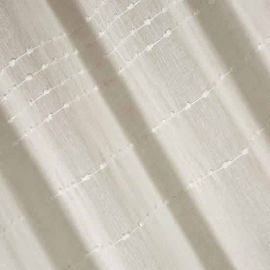 Zasłona kremowa z delikatnymi paseczkami 140x250 cm przelotki - 140 X 250 cm