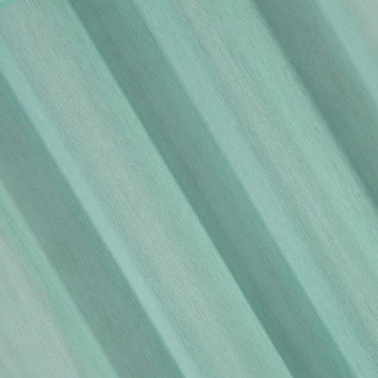 REBECCA MIĘTOWA FIRANA Z ETAMINY O STRUKTURZE DESZCZYKU 140x250 cm NA PRZELOTKACH - 140 X 250 cm