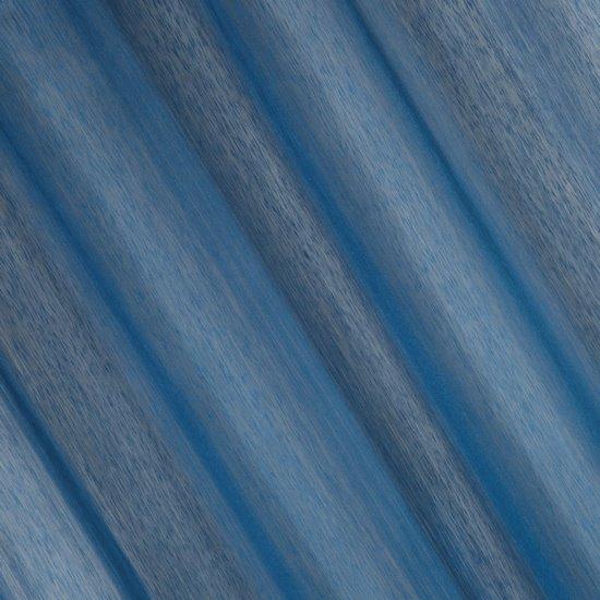 Firana gotowa gładka ciemnoniebieska na przelotkach 140x250cm - 140 X 250 cm - ciemnoniebieski