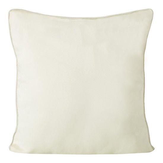 Poszewka na poduszkę gładka z lamówką 50 x 50 cm kremowa - 50x50 - kremowy