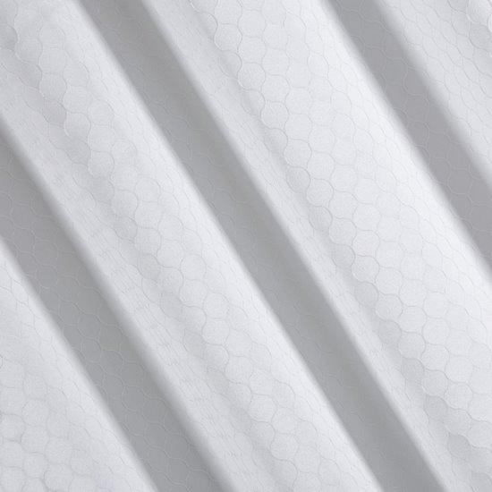 Zasłona gotowa biała z motywem plastra miodu 140x250 przelotki - 140 X 250 cm