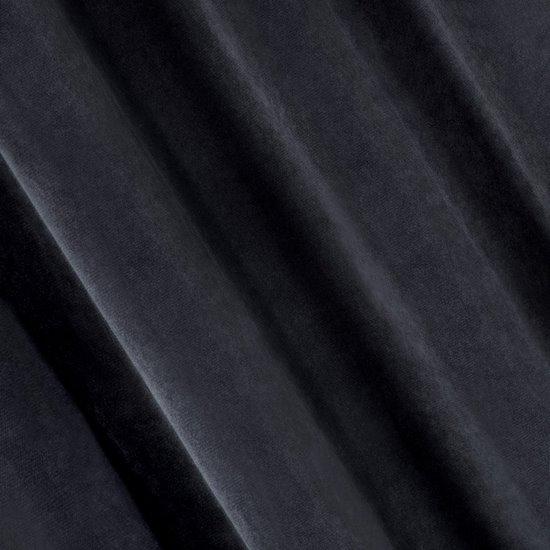 TYCJAN GRAFITOWA ZASŁONA Z MATOWEGO WELWETU NA PRZELOTKACH 140x250 cm - 140 X 250 cm