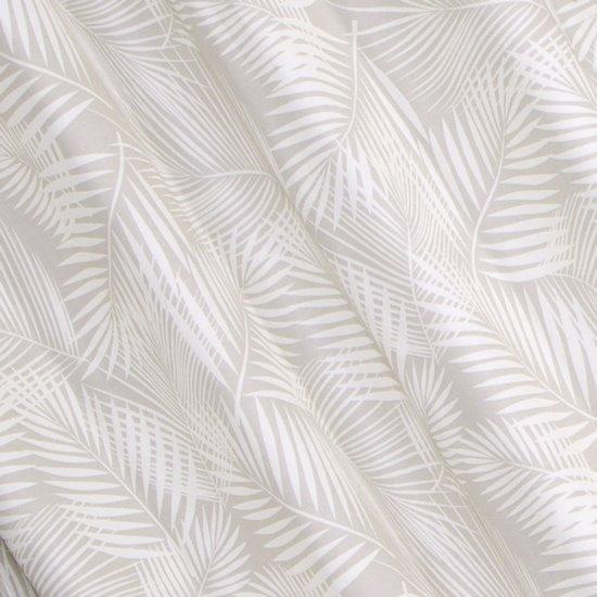 Zasłona beżowa w delikatne białe liście, na przelotkach 140 x 250 cm  - 140 X 250 cm