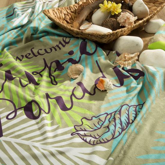 Ręcznik plażowy z mikrofibry z kolorowym nadrukiem 80x160cm - 80 X 160 cm - wielokolorowy