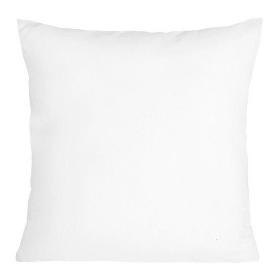 Poszewka na poduszkę dwustronna 40 x 40 cm biała stalowa   - 40x40