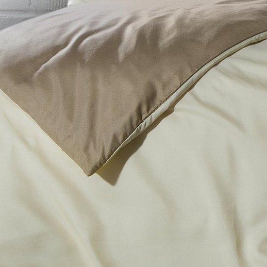 Komplet pościeli z MIKROFIBRY 160 x 200 cm, 2 szt. 70 x 80 cm, DWUSTRONNA, kremowo beżowa - 160x200+70x80/2