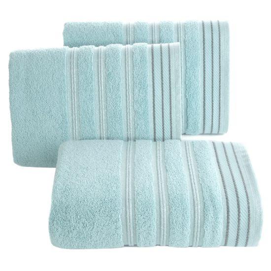 Ręcznik z bawełny z częścią ozdobną przetykaną błyszczącą nicią 50x90cm - 50 X 90 cm