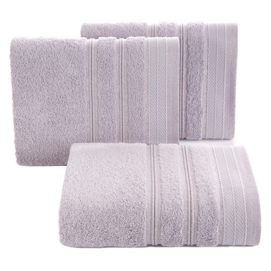Ręcznik z bawełny z częścią ozdobną przetykaną błyszczącą nicią 70x140cm - 70 X 140 cm