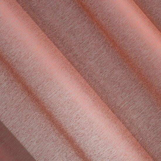 Firana bordowa zwiewna o strukturze deszczyku 140 x 300 cm na taśmie  - 140x300