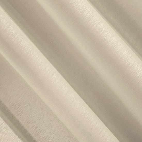 Firana beżowa zwiewna o strukturze deszczyku 140 x 300 cm na taśmie  - 140 X 300 cm - beżowy