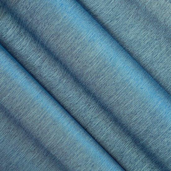 Firana gotowa na przelotkach o strukturze deszczyku zwiewna 140 x 250 cm niebieska  - 140x250