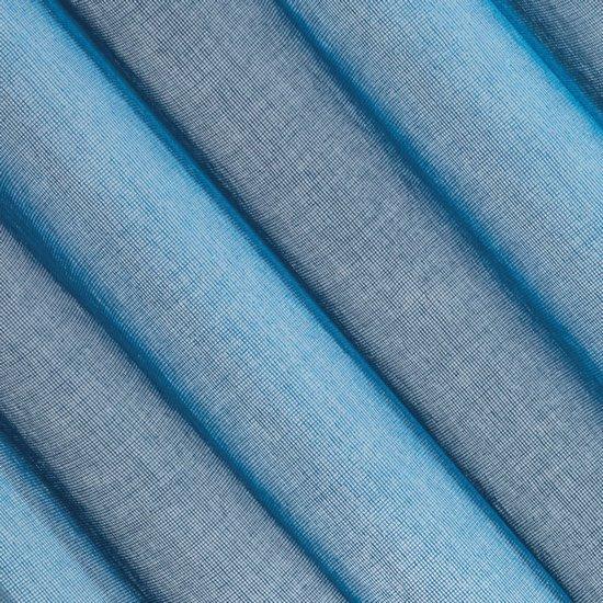Firana o strukturze etaminy bardzo zwiewna 140 x 250 cm na przelotkach niebieska  - 140 X 250 cm - niebieski