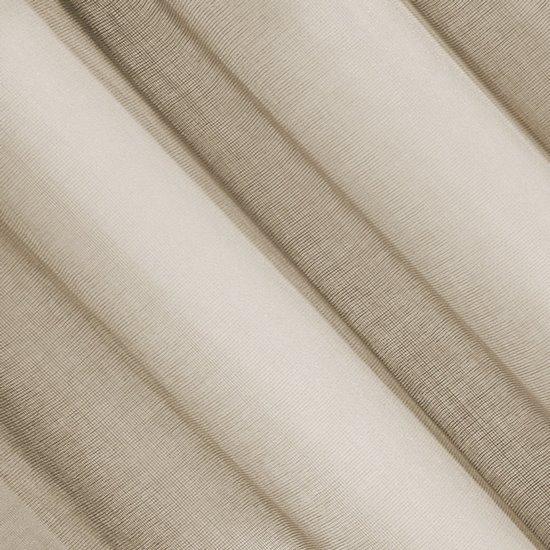 Firana o strukturze etaminy bardzo zwiewna 140 x 250 cm na przelotkach cappuccino - 140x250