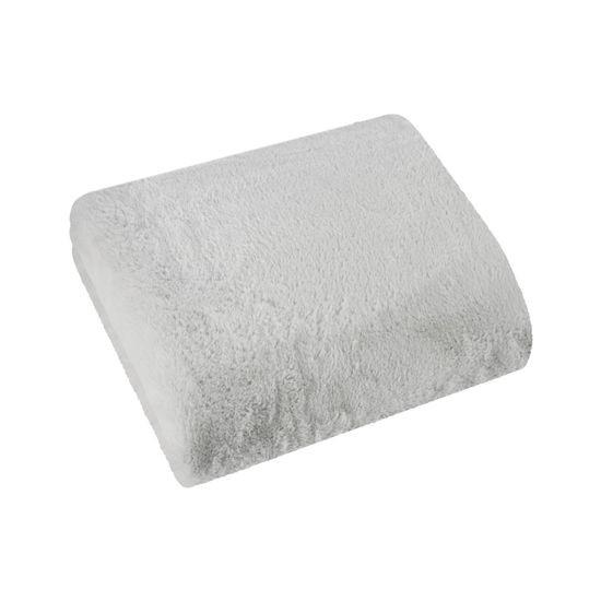 Narzuta koc jednokolorowy popielaty 170x200 cm - 170x200 - srebrny