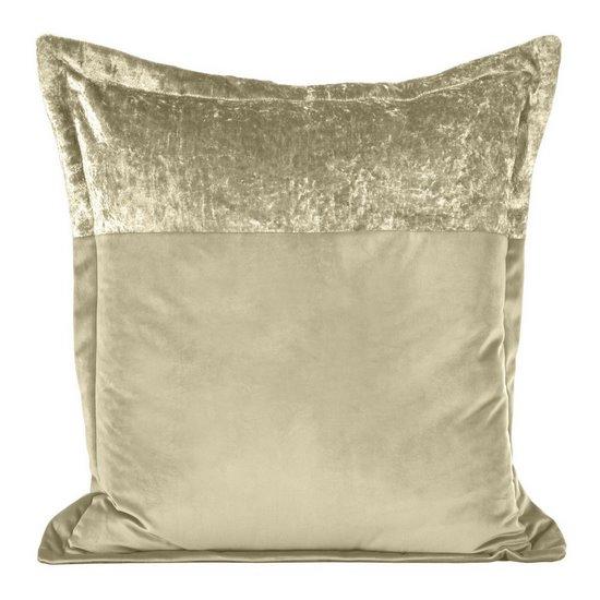 Poszewka na poduszkę welwetowa beżowa 60 x 60 cm - 60x60