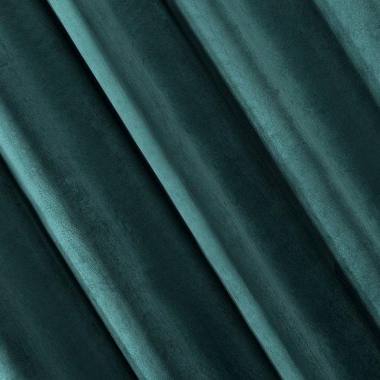 Zasłona welwetowa ciemnoturkusowa 140x250 - 10 przelotek  - 140x250