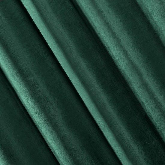 Zasłona welwetowa zielona 140x250 - 10 przelotek - 140 X 250 cm