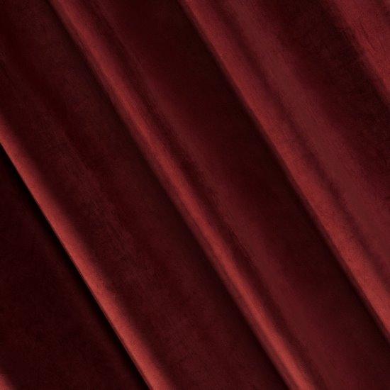 Zasłona welwetowa 140x270 cm na taśmie ciemnobordowy - 140x270