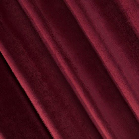 Zasłona welwetowa 140X270 cm na taśmie bordowa - 140x270