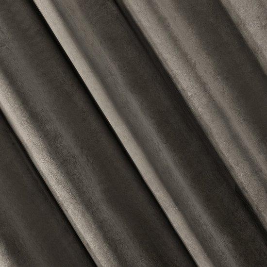 Zasłona welwetowa 140x270 cm na taśmie grafitowa - 140x270