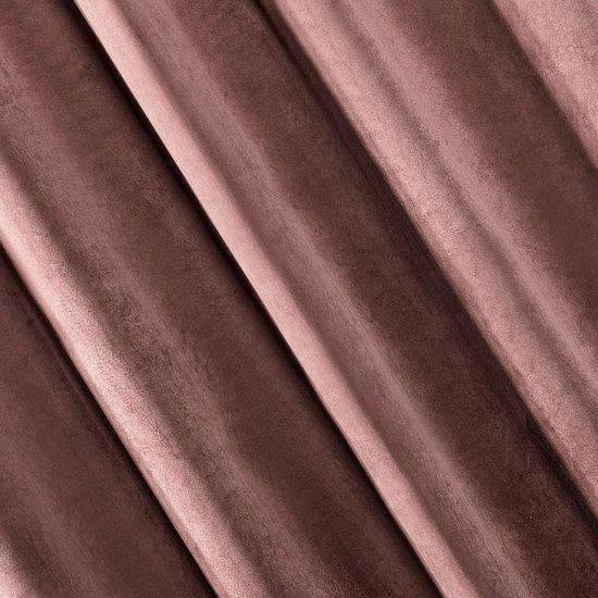 Zasłona welwetowa 140x270 cm na taśmie ciemnoróżowa - 140x270 - różowy
