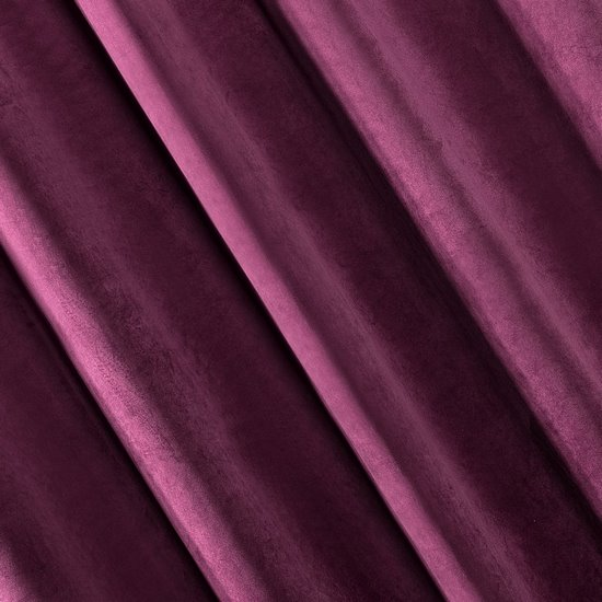 Zasłona welwetowa 140X270 cm na taśmie ciemnofioletowa - 140x270