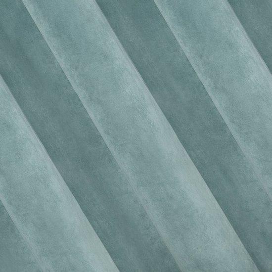 Zasłona welwetowa 140x270 cm na taśmie morska - 140x270