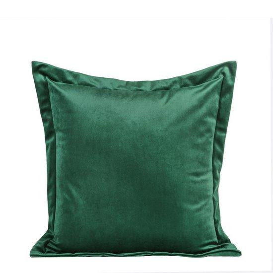 Ozdobna poszewka z welwetu zielona 45x45cm - 45 X 45 cm