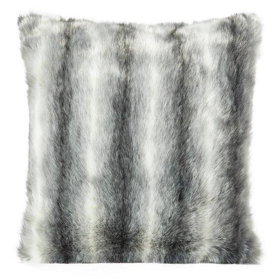 Poszewka dekoracyjna na poduszkę 45 x 45 kolor stalowy - 45 X 45 cm - stalowy