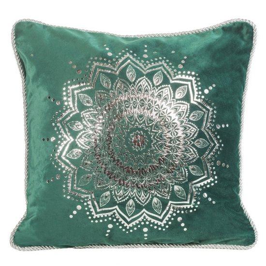 Poszewka dekoracyjna na poduszkę 45 x 45 kolor c.zielony - 45x45 - zielony