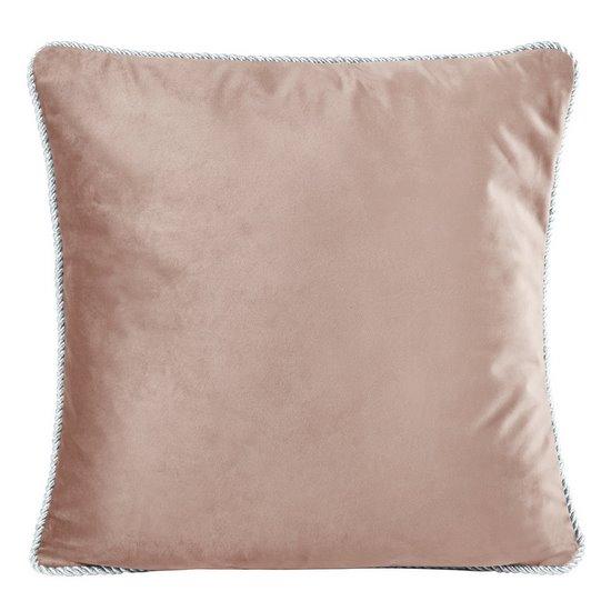 Poszewka na poduszkę welwetowa z lamówką 45 x 45 cm ciemno różowa - 45x45 - różowy