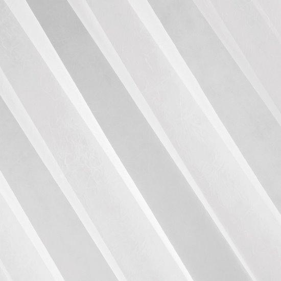 Gładka biała firana z woalu na taśmie tunelowej 300x300 cm - 300 X 300 cm