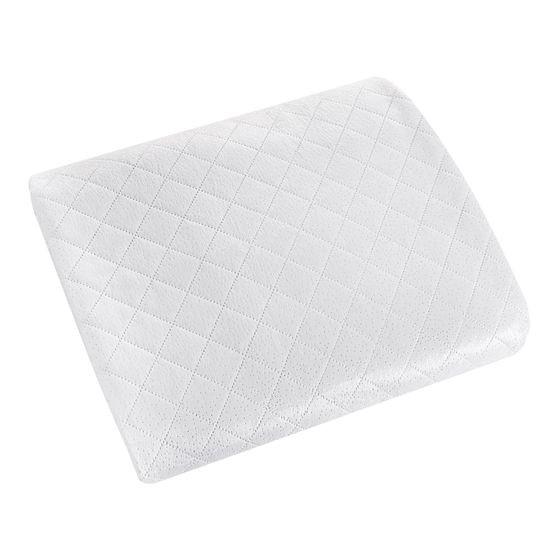 Narzuta na łóżko dwustronna welurowa 170x210 cm biało-srebrna - 170 X 210 cm - biały/srebrny