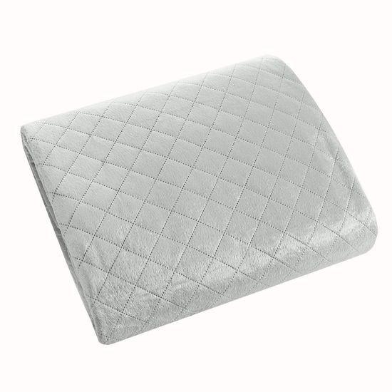 Narzuta na łóżko pikowana hotpress 170x210 cm srebrna - 170 X 210 cm