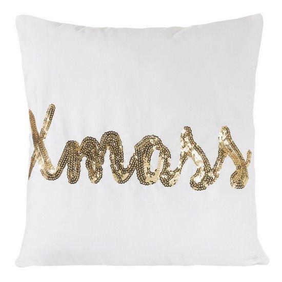 Poszewka na poduszkę 40 x 40 cm x mass biało złota  - 40x40