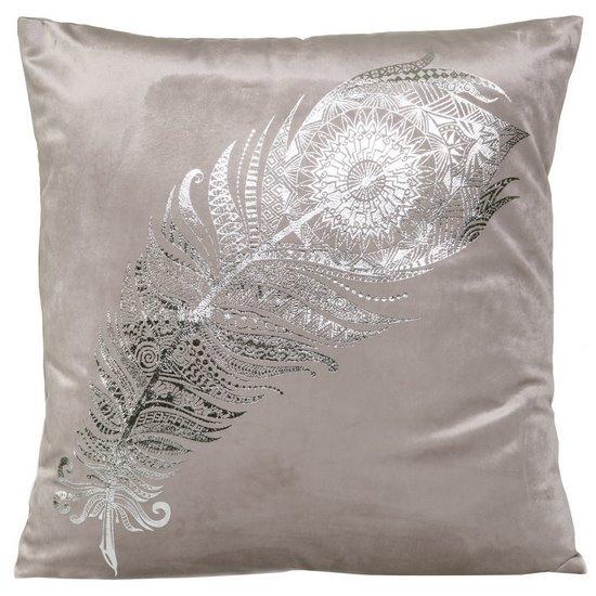 Poszewka dekoracyjna na poduszkę 45 x 45 kolor srebrny - 45 X 45 cm - srebrny