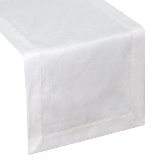 Biały obrus plamoodporny do jadalni 50x105 cm - 50 X 105 cm - biały