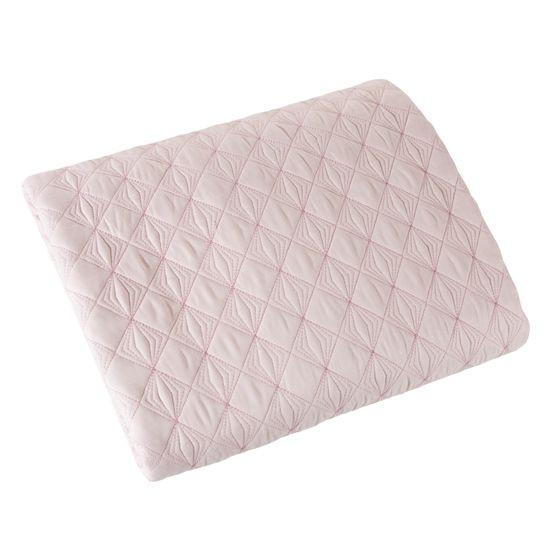 Narzuta na łóżko pikowana srebrna nić 170x210 cm różowa - 170 X 210 cm - j.różowy