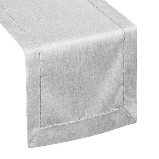 Minimalistyczny srebrny bieżnik do jadalni 40x140 cm - 40x140